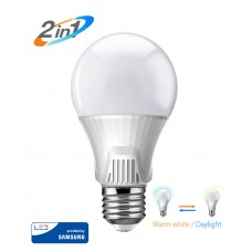 POWERTECH LED Λάμπα Bulb 2 σε 1, 9W, 3000K  6500K, E27, Samsung LED, IC
