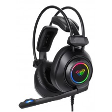AULA gaming headset Mountain S600, RGB, USB, 50mm, μαύρο
