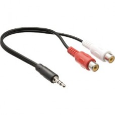 CABLE 3.5mm MALE - 2X RCA FEMALE