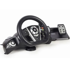 GEMBIRD VIBRATION RACING WHEEL WITH PEDALS (PC/PS3/PS4/SWITCH)