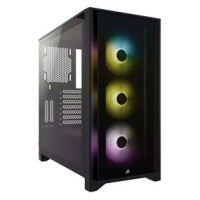 CASE CORSAIR 4000X iCUE RGB Mid Tower with tempered glass Black