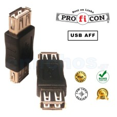 ADAPTOR USB A TO A FEMALE TO FEMALE