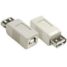 ADAPTOR USB A-B FEMALE TO FEMALE