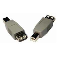 ADAPTOR USB A-B MALE TO FEMALE