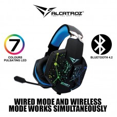 ALCATROZ WIRELESS 2,1 CHROMATIC DESIGN GAMING HEADSET GOLD HP2000