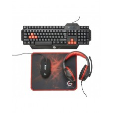 GEMBIRD GGS-UMG4-01 ULTIMATE 4 IN 1 GAMING KIT US LAYOUT BLACK