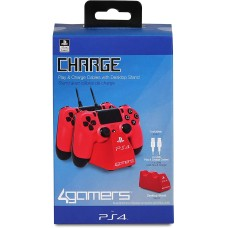 PS4 Charge Play and Charge Cables - Red